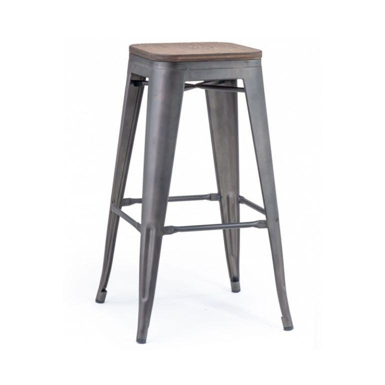 bar stool IRON WOOD H