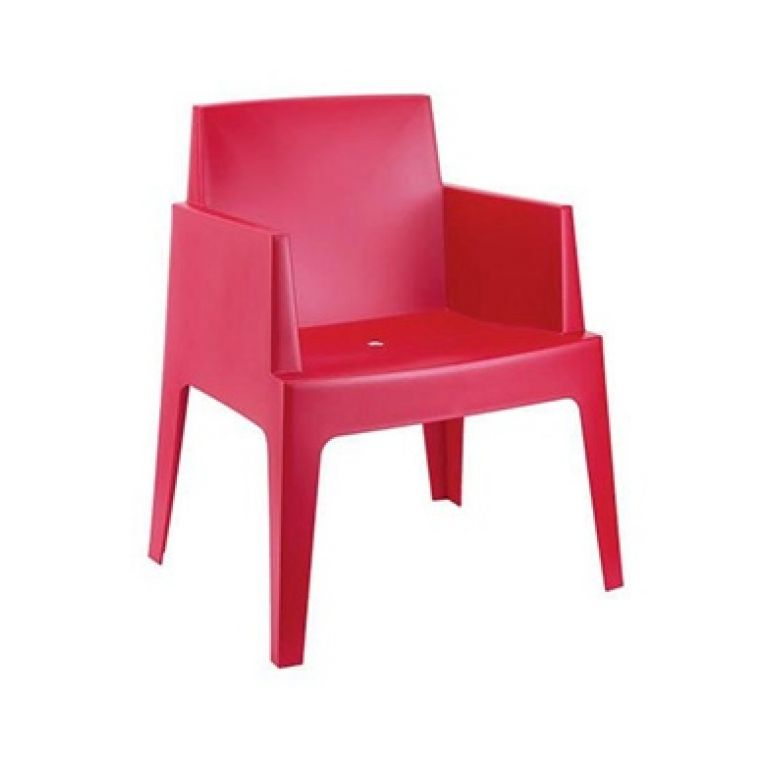 chair Box red